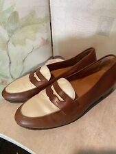 Vintage Polo Penny Loafers Two Tone 9 1/2 D Made In Italy Good Pre-owned