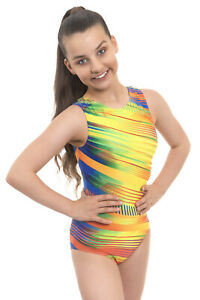 Deluxe Gymnastics Leotard for Girls Kids Sparkle ideal for Competition Dance Gym