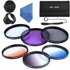 67mm UV CPL FLD ND Graduated Color Lens Filter Kit for Canon Nikon Sony DLSR SLR