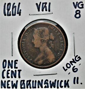 1864 L6 New Brunswick One Cent