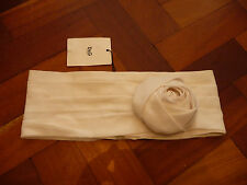 NEW D&G WHITE SILK LAYERED ROSE WAIST BELT SIZE 40