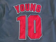 Texas Rangers Baseball 10 YOUNG Front Button All SEWN Jersey Stitches L Large