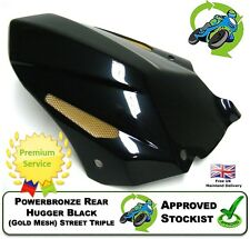 NEW POWERBRONZE REAR HUGGER IN BLACK GOLD MESH TO FIT TRIUMPH STREET TRIPLE 13