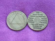 ONE DAY AT A TIME ~ Al-Anon Symbol ~ Serenity Prayer 24 Hours  Bronze Medallion