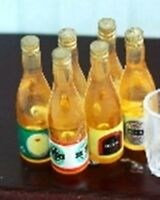 Dolls House Miniature 1/12th Scale Set of 6 Beer Bottles