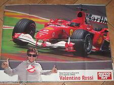 # POSTER VALENTINO ROSSI FERRARI TEST FIORANO 2005 CM.70X54 AC9