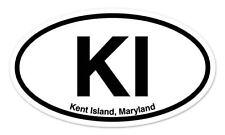 "KI Kent Island Maryland Oval car window bumper sticker decal 5"" x 3"""