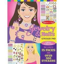 Melissa & Doug Jewelry & Nails Sticker Pad  11 x 14 Decorate with 360 Stickers!