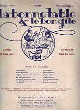 La bonne table et le bon gîte ! N°19 ! Juin 1926 ! Revue culinaire ancienne R1