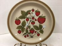 "Vintage Country Living Stoneware Strawberry Patch 10 1/2"" Round Dinner Plate"