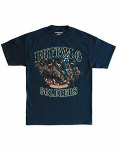 Buffalo solider T shirt Buffalo Solider short sleeve T shirt US ARMY TEE BLUE