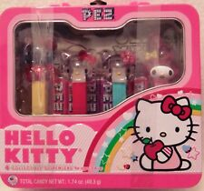 PEZ Hello Kitty Collectible Lunch Box, 4 Assorted Candy Dispensers