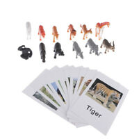 Montessori Animal Match Cards - Miniature Wildlife Animals Model with Matching