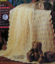 Crochet Pattern Only ~ Vintage Lace Baby Blanket ~ Lacy with Scalloped Edge