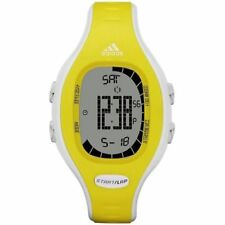 Adidas ADP3113 Unisex Yellow-White Rubber Bracelet with 40mm Digital Watch NIB