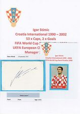 IGOR STIMIC CROATIA INTERNATIONAL 1990-2002 ORIGINAL HAND SIGNED CUTTING