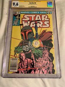 Star Wars #68 CGC 9.6  SS Jeremy Bulloch Boba Fett 1st Mandalorian  Newstand