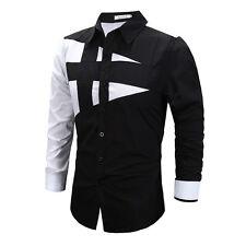 Herren Luxus Oberhemd TOP DESIGNER langärmlig freizeit enge Passform T-Shirt