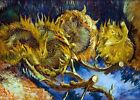 Van Gogh Four Sunflowers Gone to Seed  PHOTO Art Print of his 1887 Painting