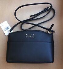 Kate Spade Millie Grove Street Black Leather Crossbody Bag Shoulder Handbag New