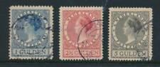 NETHERLANDS, 1926-1927 1G, 2.50G, 5G used, NVPH 163-165, cat E10