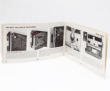 Polaroid 210 Instant Film Land Camera Manual Instructions Guide English
