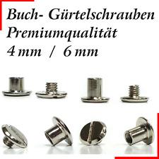 10 Stück ! Premium Gürtelschrauben 4mm / 6mm (M3) Gürtel Schrauben Buchschrauben