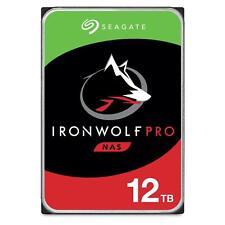 "Seagate 12TB IronWolf Pro NAS Hard Drive 3.5"" SATA 6GB/s 7200RPM 256MB Cache"