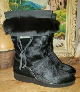 Garden Sport Italy Black Deer Fox Apres Boots 40 yeti ski snow winter 8.5 m