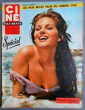 ►CINE REVUE 6/1960-CLAUDIA CARDINALE-DIANA DORS-ANNIE GIRARDOT-MARILYN MONROE...