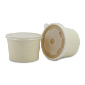 Takeaway 440ml Sugarcane Paper Bowl with lid 250pcs