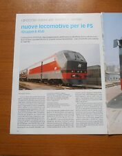 NUOVE LOCOMOTIVE PER FS GRUPPO E. 454 FERROVIE DELLO STATO TRENI E. 453 DATI