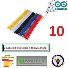 10 Cables 40cm 18AWG Arduino Electronica Puente Robotic 3D Robotica ESPAÑA  CA15