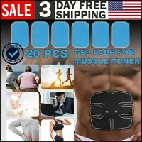 Gel Pads for Muscle Toner Abs Stimulator EMS Machine Toning Belt Gel Pad Trainer