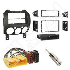 Autorradio 2-din enmarcar radio diafragma + cable del adaptador kit de integracion Mazda 2 AB 10/07