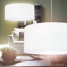 Schirm Wohn Zimmer Lampe Pendellampe Hängeleuchte Esszimmer Leuchten Stoff weiss