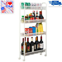 4Layers Removable Storage Cart Kitchen Pull Out Cart Trolley Shelf Rack Bathroom