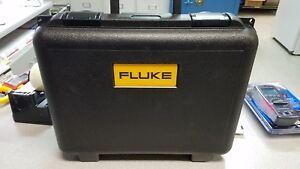 "FLUKE PLASTIC HARD CASE, 17""-14""-4.75"" O.D. GREAT SHAPE"