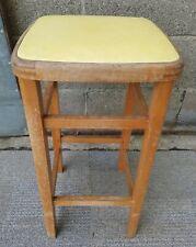 Vintage Original 1960s Beech Wood Kitchen Stool