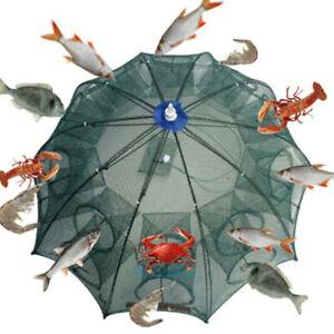 Large Fishing Bait Trap Crab Net Crawdad Shrimp Cast Dip Cage Fish Minnow