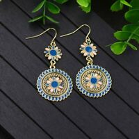 Bohemian Vintage Ethnic Tassel Beads Dangle Hook Earrings Women Jewelry Holiday