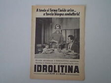 advertising Pubblicità 1956 IDROLITINA GAZZONI