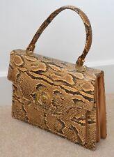 VINTAGE 1960s/70s Vera Pelle di Serpente Python Bag Borsa