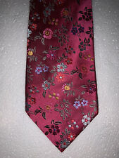 Duchamp London Mens Tie PINK FLORAL 100% SILK Made in ENGLAND
