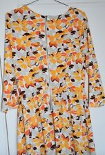 Asos Tall Glamorous Maxi Dress `Long Sleeve floral orange Zip SUmmer Size 10