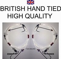 Quality British Hand Tied Sea Rigs ( TWO HOOK FLAPPER )  Sea Fishing Tackle Rig