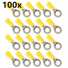 25pcs Insulated Crimp Ring Terminal Wire Connector 22-16AWG M6 S7Y1
