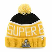$10 NFL 2016 Super Bowl 50 Embroidered Jacquard Cuff Knit Hat with Pom by '47