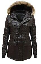 Faux Fur Outdoor Plus Size Button Coats & Jackets for Women