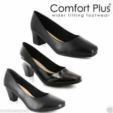 Comfort Plus Patternless Synthetic Leather Heels